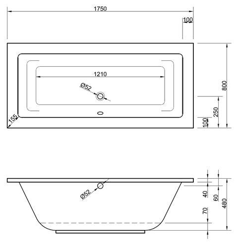 badewannen abmessungen badewanne 175 x 80 x 48 cm badewanne badewanne rechteck