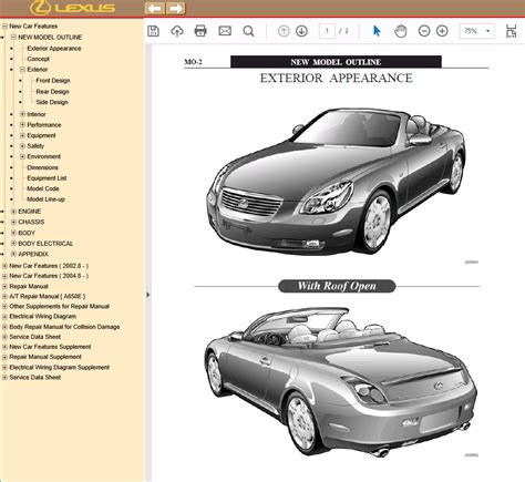 car repair manuals download 1994 lexus sc user handbook lexus sc430 pdf manual