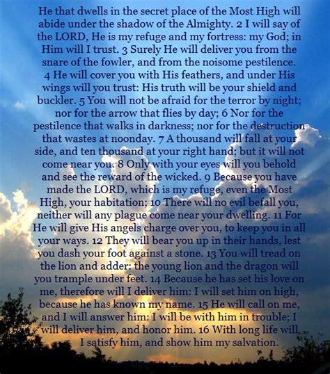 printable version psalm 91 psalm 91 scripture pinterest