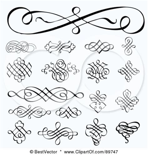 design font elegant swirls tattoos pinterest swirls