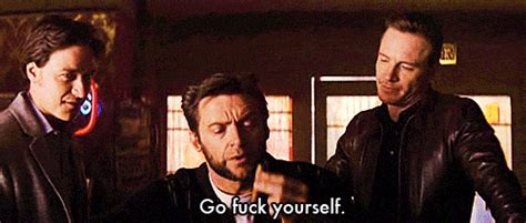 Go Fuck Yourself Meme - wolverine animated gif