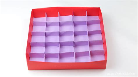 Origami Box With Divider - 25 section origami box divider paper kawaii