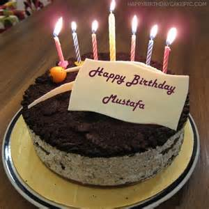 cute birthday cake for mustafa