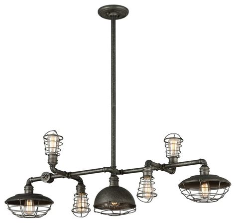 Industrial Kitchen Island Lighting Conduit Island Pendant Silver Finish Industrial Kitchen Island Lighting By Alinda