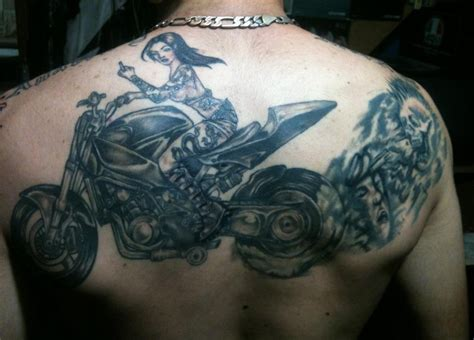 motorbike tattoo designs biker motorcycle tattoos page 2