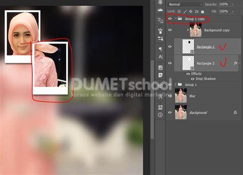 langkah membuat kolase cara membuat bingkai foto efek kolase kursus desain grafis