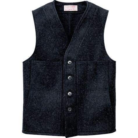yarn vest filson wool mackinaw vest men s backcountry com