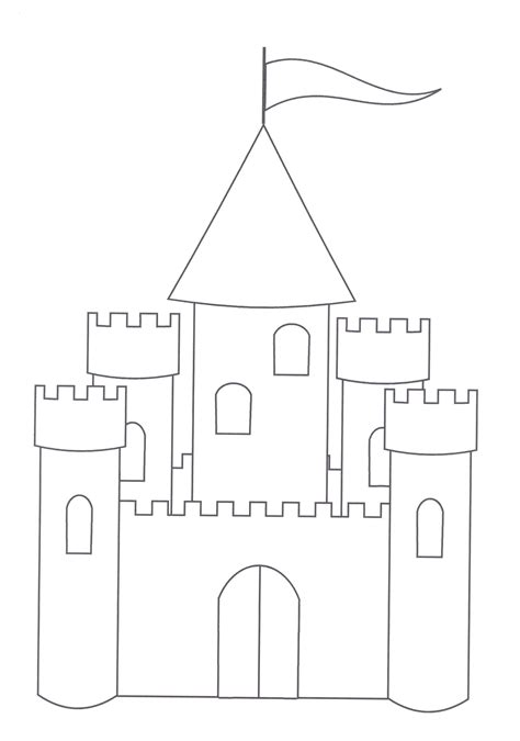 color templates free printable castle coloring pages for