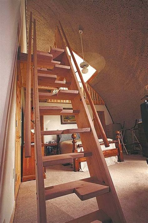 monk stairs wood work attic staircase stairs loft stairs