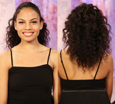 kinky textured drawstring ponytail celebrity curly hair textured ponytail style clip in high