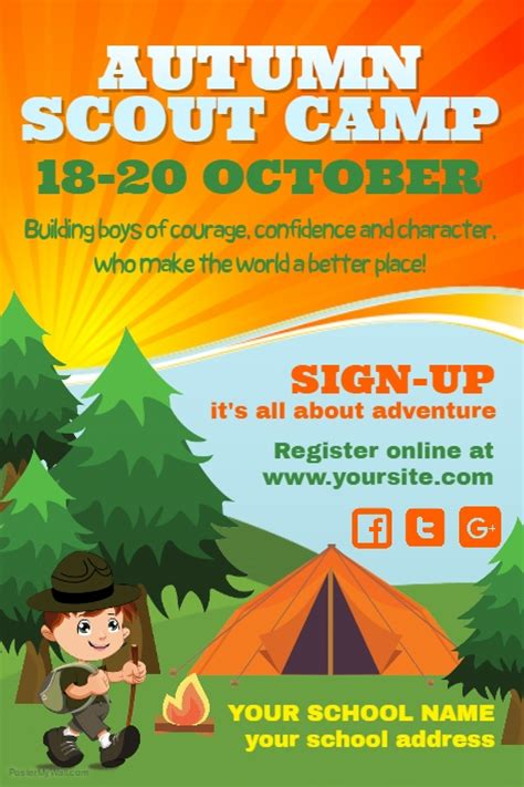 Copy Of Scouts C Poster Template Postermywall Scout Flyer Template