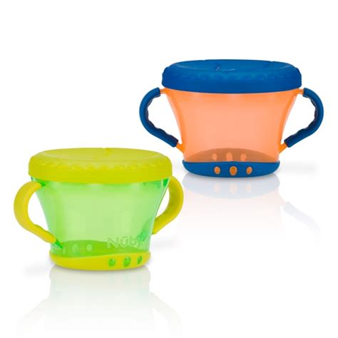 Nuby Snack Keeper 2 Pack Blue Green snack keeper 2 pack buybabydirect