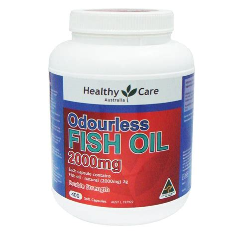 Healthy Care Calsium 400 Capsule buy healthy care odourless fish 2000mg 400 capsules at chemist warehouse 174