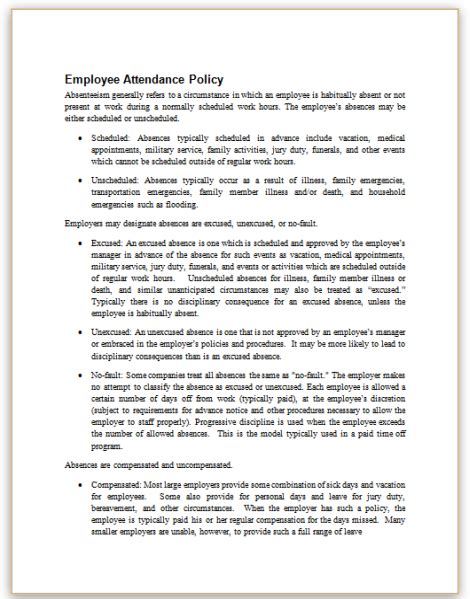 absenteeism policy template beautiful overtime policy template photos exle resume