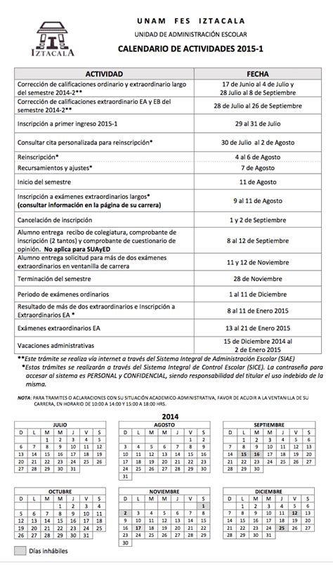 Calendario Escolar Unam Fes Acatlan De Cirujano Dentista Fes Iztacala Calendario Actual
