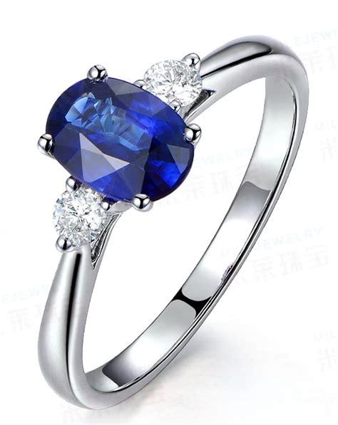 trilogy half carat oval cut sapphire and