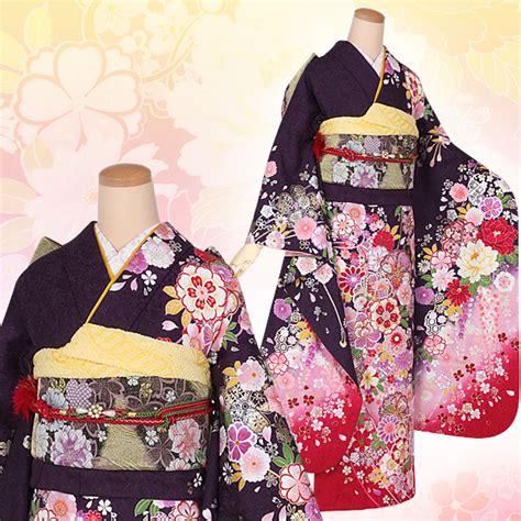 Kimono A 1434 楽天市場 振袖 レンタル セット r1434 紫 枝垂桜に花くす玉 絹 宅 結婚式 結納 パーティー レンタル 振袖 着物 レンタル 振り袖 フルセット 貸衣装 ふりそで フリソデ