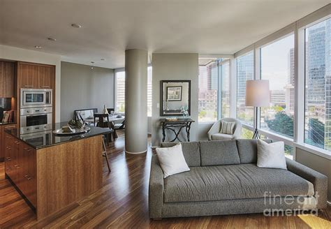 Living Room Decor Ideas For Apartments high rise condo interior photograph by andersen ross