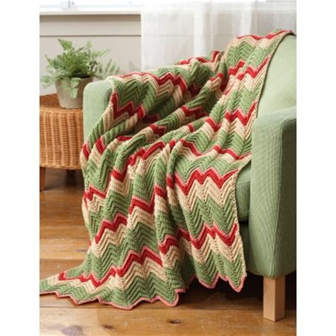 bernat zig zag afghan pattern striped ripple afghan crochet pattern crochet kingdom