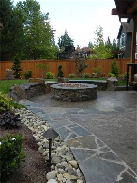Patio Ideas Other Than Concrete Sted Concrete Mimics Flagstone Landscaping Network