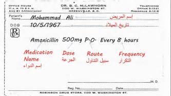 كيفية كتابة وصفة طبية how to write a prescription