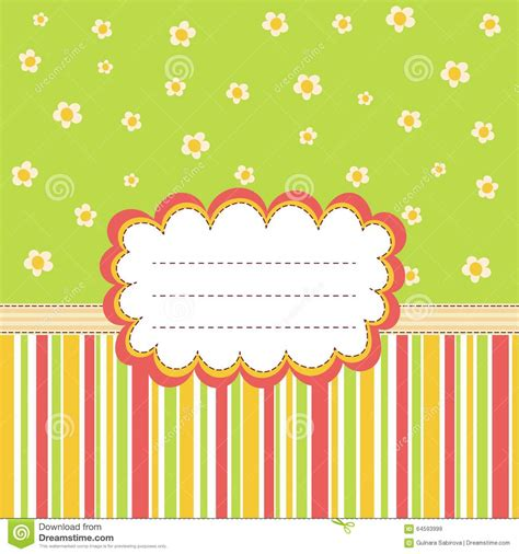 Greeting Card Text Templates by Greeting Card Template With A Place For Your Text Stock