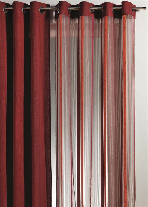 Rideau Organza rideau en organza rayures verticales piment beige