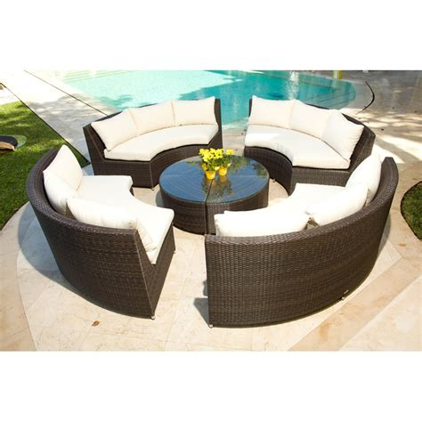 Outdoor Sofas And Chairs Circular Outdoor Patio Furniture | source outdoor circa all weather wicker round 4 bench