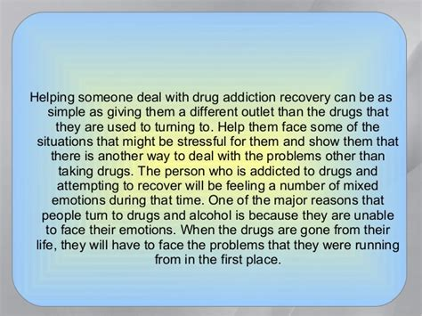 How To Help Someone Detox From Drugs by How To Help Someone Avoid A Addiction Relapse