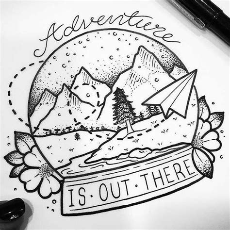 adventure is out there tattoo best 25 wanderlust tattoos ideas on