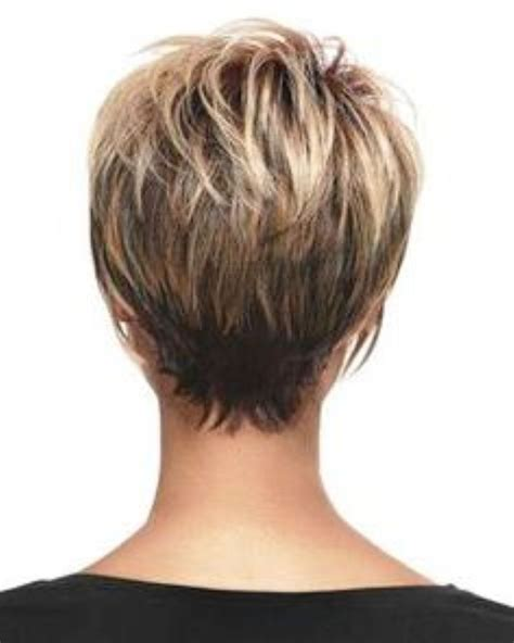 back view of short haircuts older women very short stacked hairstyles short hairstyles back view