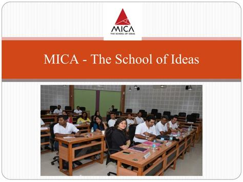 Careers To Pursue With An Mba by Ppt Pursue Career With Mica The Best Mba Institutes
