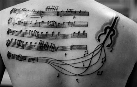 tattooed heart sheet music free 30 groovy music tattoos creativefan
