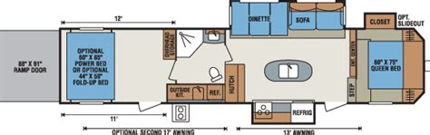 kz hauler floor plans 2016 sportsmen sportster travel trailer fifth wheel