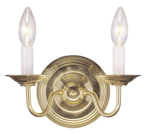 Williamsburg Light Fixtures Polished Brass Livex Williamsburg 2 L Wall Sconce Lighting Fixture Sale 5018 02 Ebay