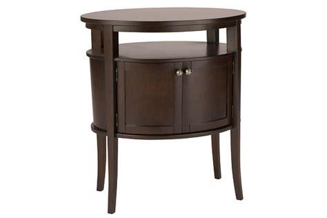 revelle oval nightstand for rent brook furniture rental