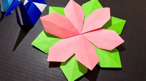origami paper crafts origami paper craft flower tutorial 5 minute