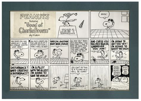 new year date in 1967 lot detail baron peanuts sunday comic