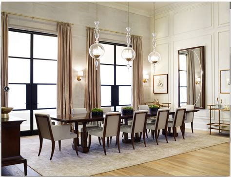 Baker Dining Room Table And Chairs Pheasant For Baker Furniture Featuring The Column Dining Table And Atelier Dining Chairs