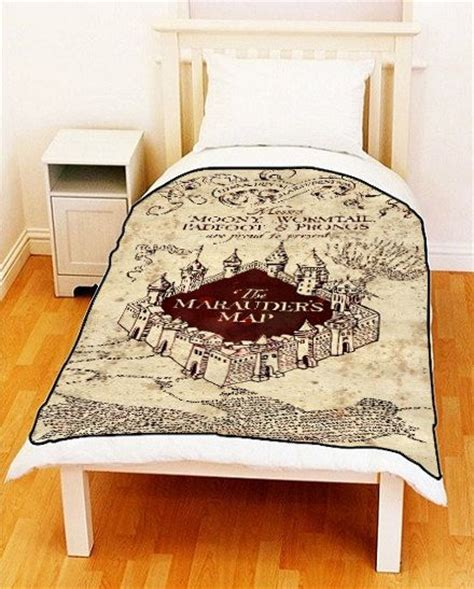 harry potter bed sheets marauders map harry potter bedding fleece blanket bed throw ideal gif