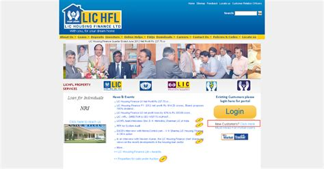 lic housing finance loan statement online lichfl generating home loan statements online texient com learn n share