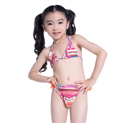 Swimwear Two Piece For Kid   2016 new kids swimwear children bikini swimsuit two piece