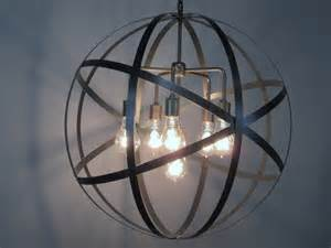 Orb Chandelier Canada Industrial Orb Chandelier Ceiling Light Sphere 24