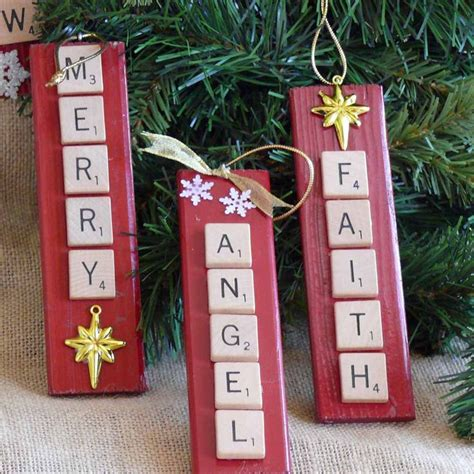 scrabble ornaments 17 best ideas about words on