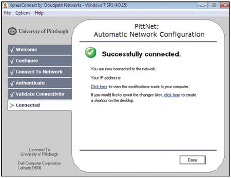 pitt technology help desk pittnet wired prepare your computer to use wired network