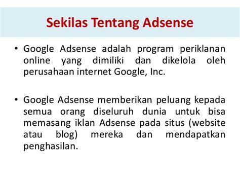 tips trick memasang iklan selain google adsense belajar google adsense dengan cepat