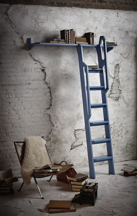 vintage looking noveltree bookshelf ladder inspired by