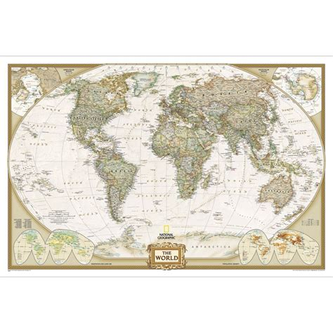 wall map world executive wall map enlarged and laminated national geographic store