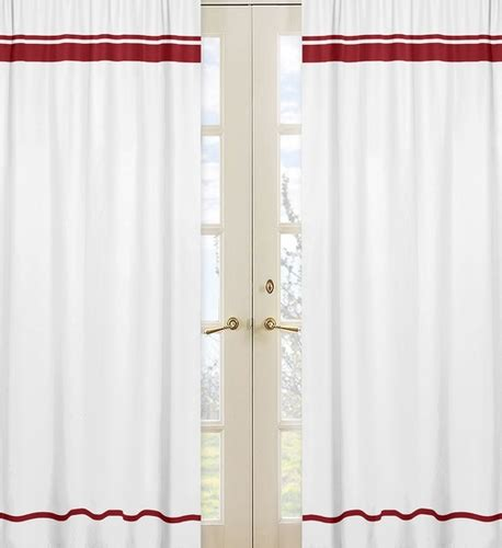 hotel window curtains white and red modern hotel window treatment panels by