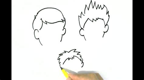 drawing 6 boy hairstyles by marryrdbsongs youtube how to draw boys hairstyles 2 easy steps for children